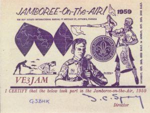 Tarjeta JOTA 1959